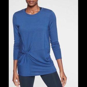 Athleta Nirvana Twist Front Sweatshirt Size XS